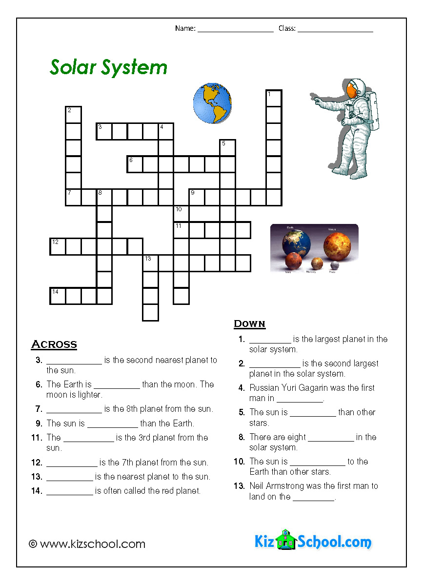 second grade solar system worksheets - photo #13